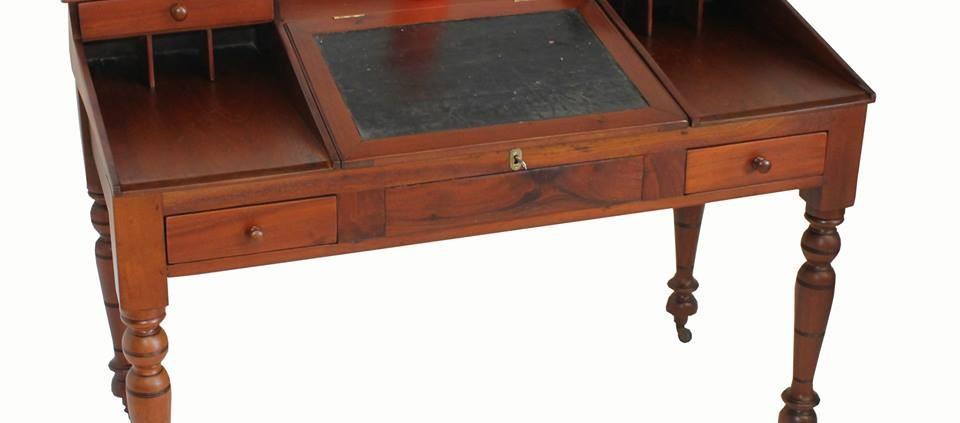 1800s cedar writer's desk