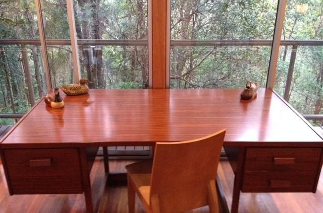 restored office desk