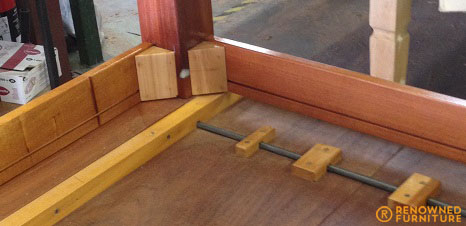 Kathy cedar table repair detail RF
