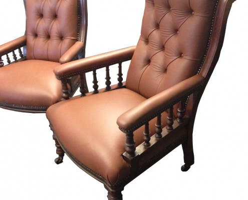 restored sitting chairs