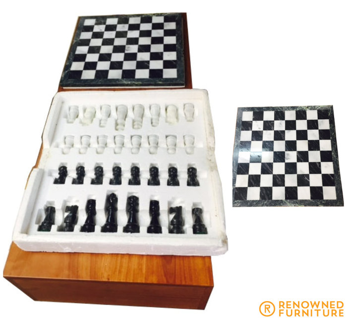 chess set turned to table