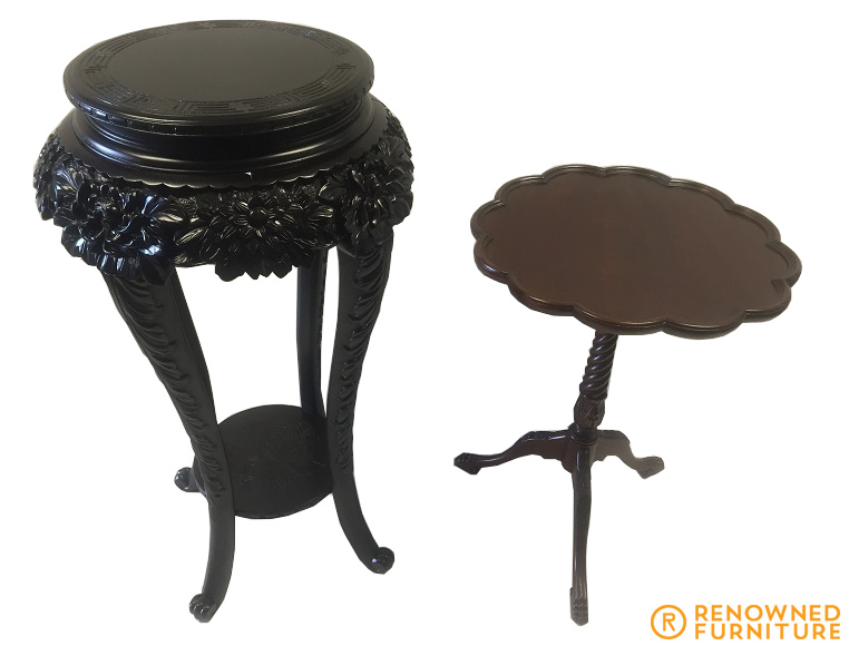 English occasional table & plant stand