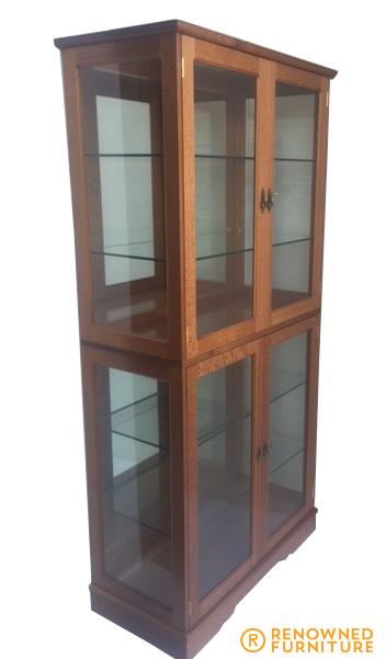 finished oak cabinet
