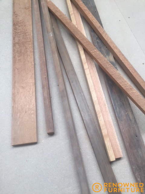 broken oak sticks brought in by a client