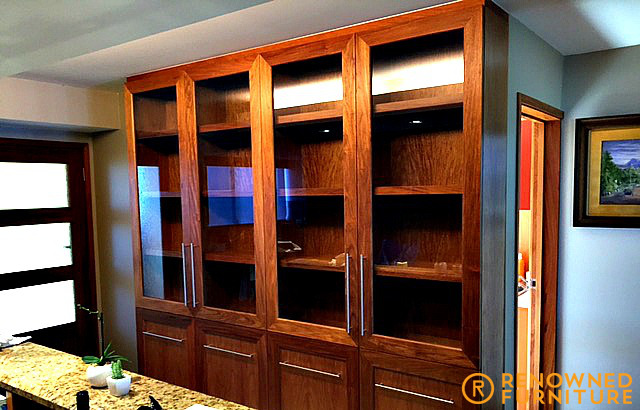 Custom made Rosewood cabinet display
