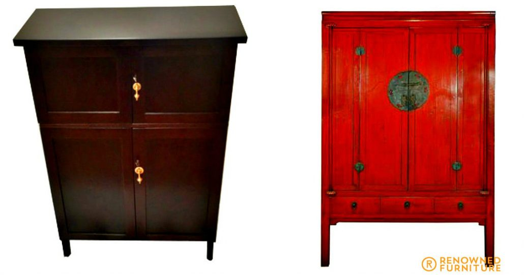 Restored chest of drawers and drinks cabinet