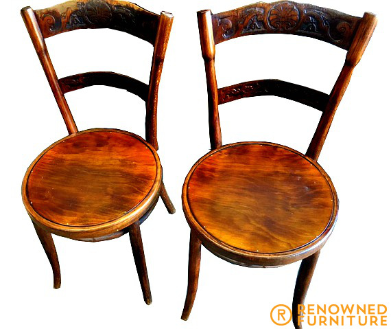 Restored bent chairs