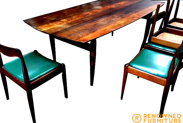 Restored mid-century Scandinavian inspired dining suite