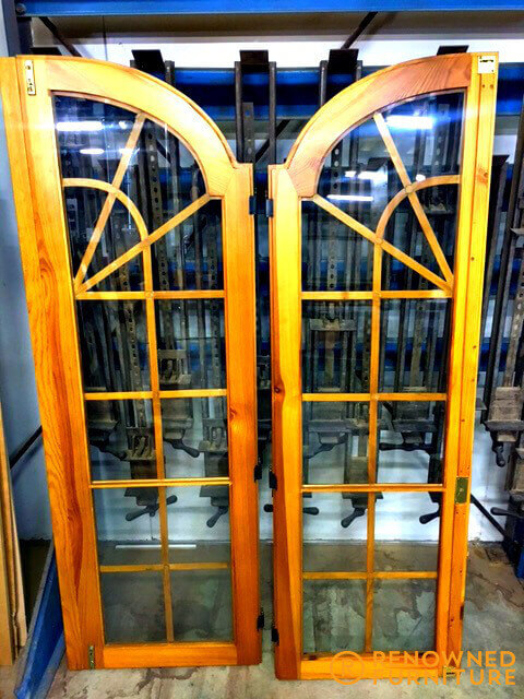 Restored wooden doors