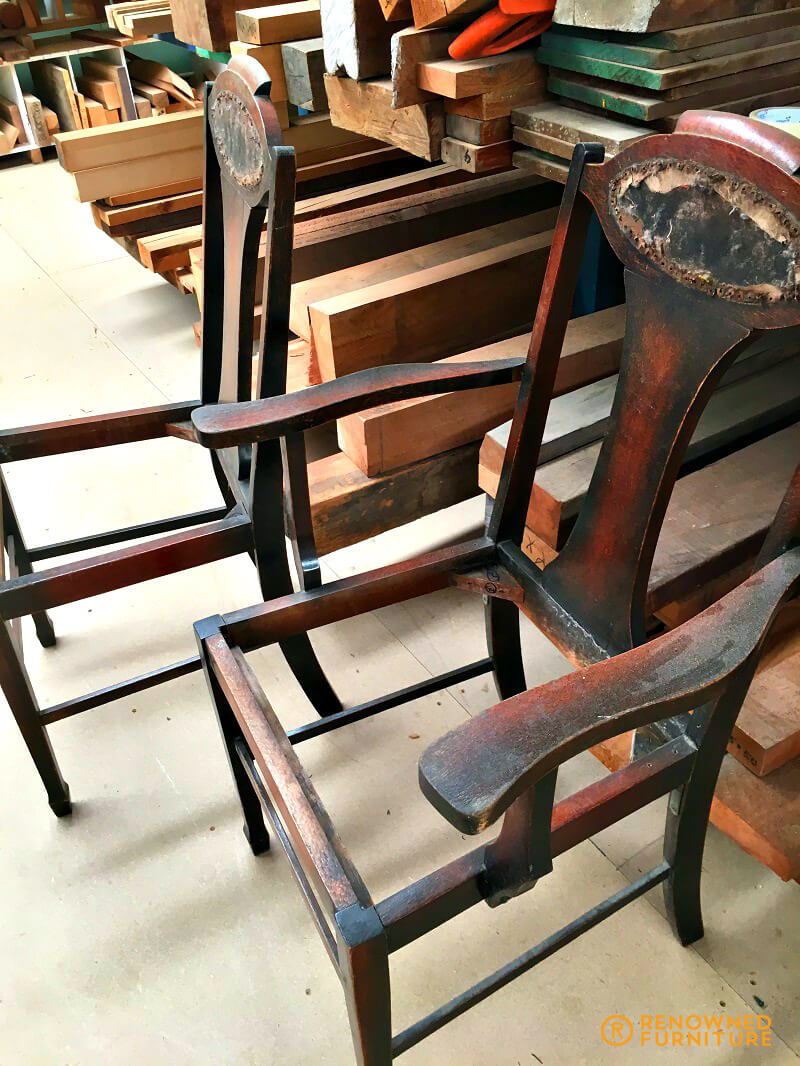 Timber chairs for restoration