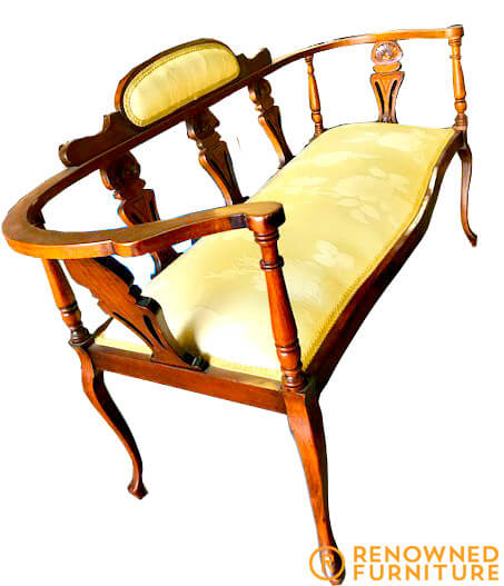 Restored two-seater chair