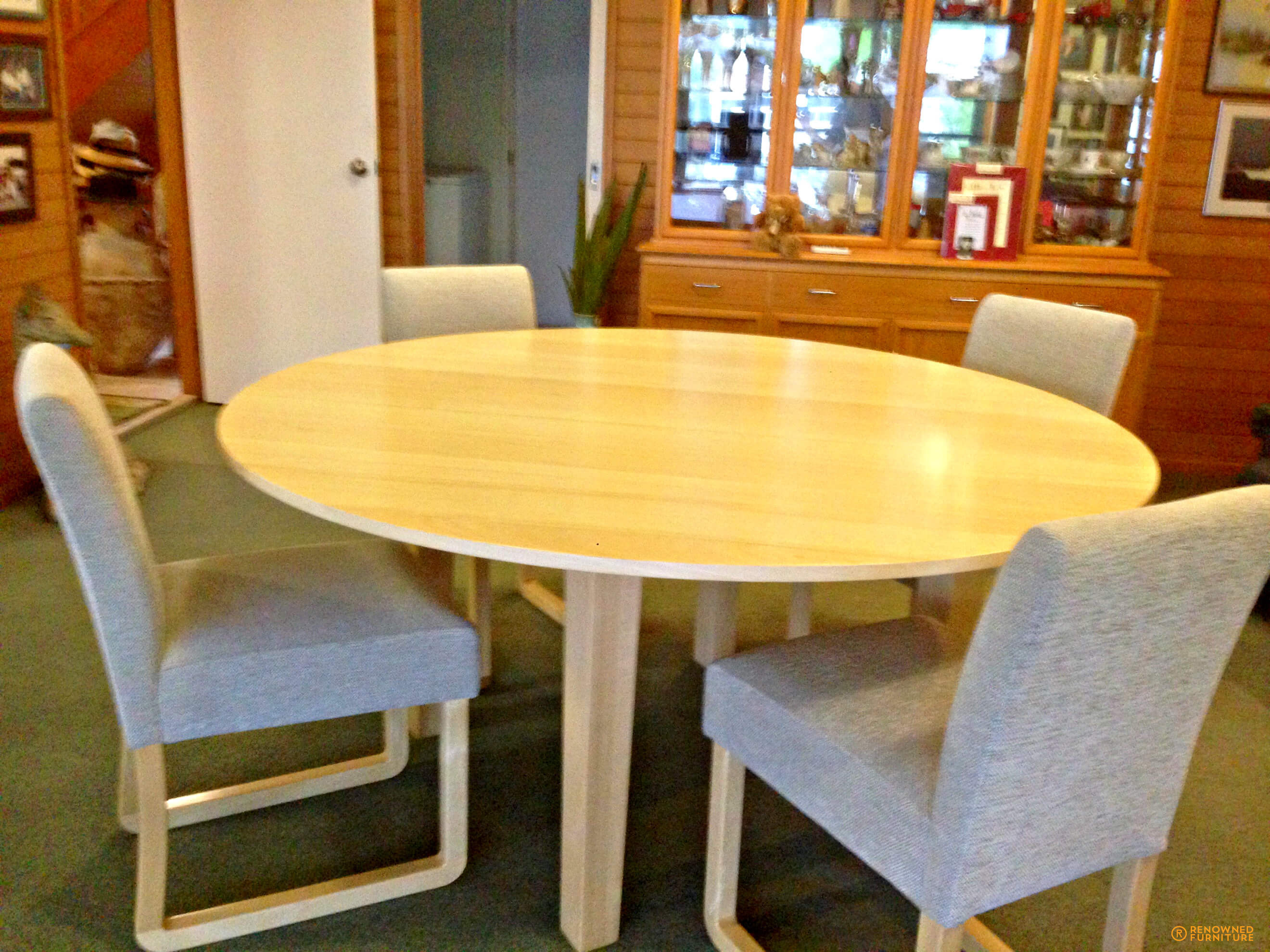 Custom-made silver ash dining chairs