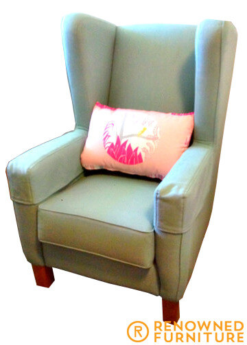 Custom made wing back chair