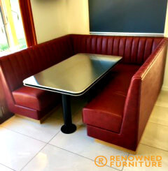 Custom made dining booth