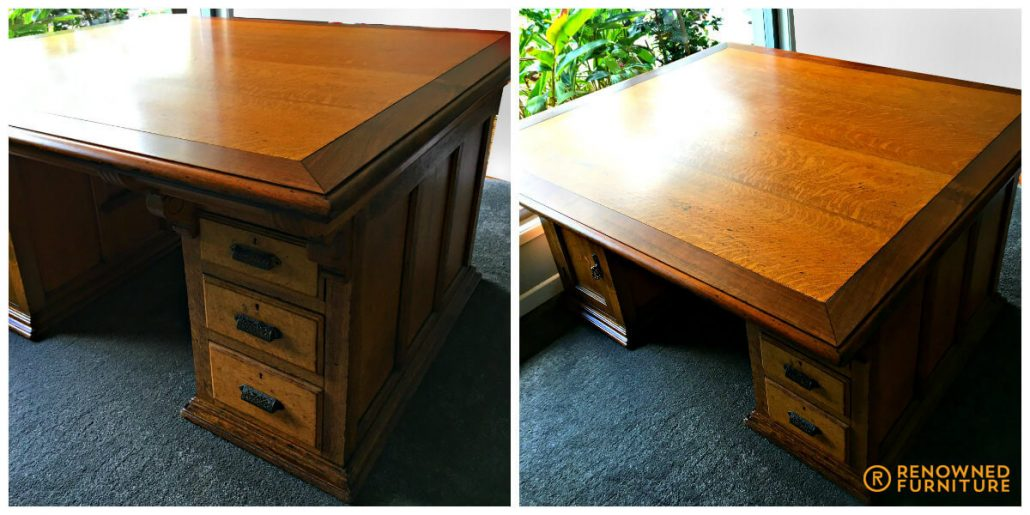 Restored old partners desk