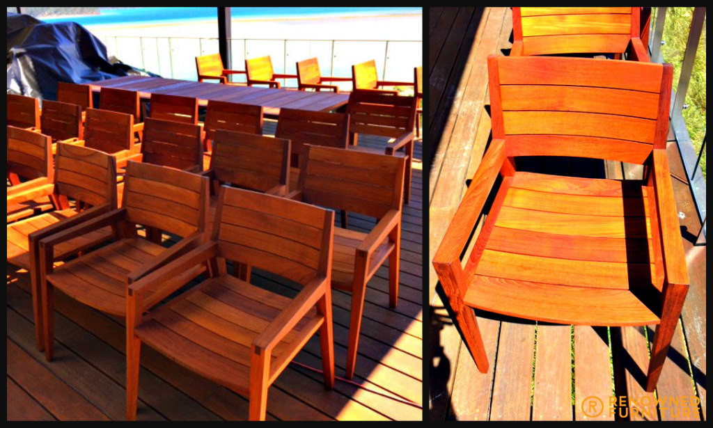 Restored outdoor chairs
