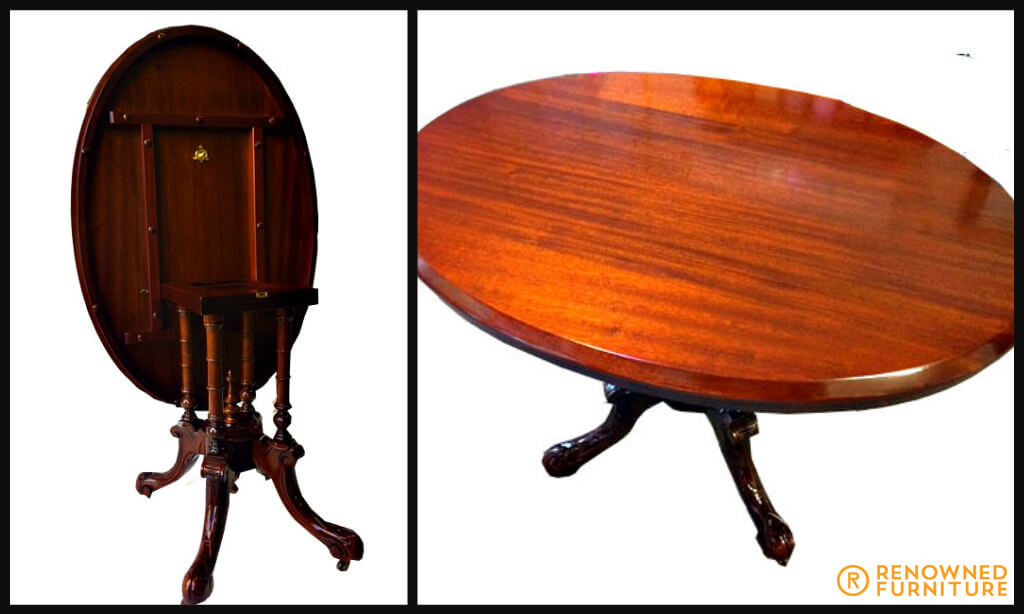 Restored oval presentation table